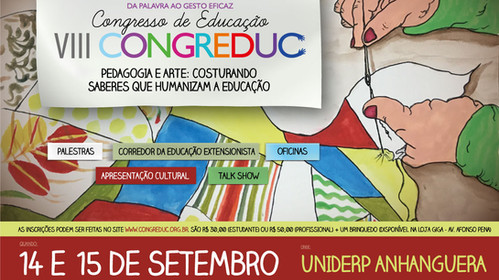 Pedagogia e arte é tema do VIII Congreduc