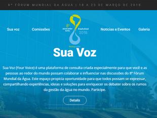 8º Fórum Mundial da Água: Conheça a temática que vai nortear o evento
