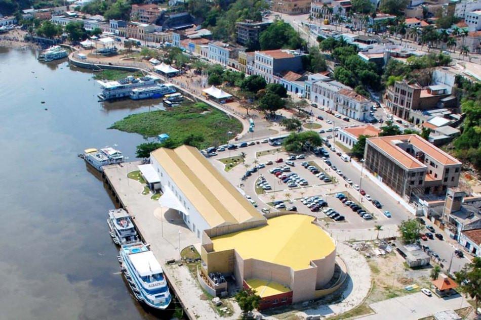 Vista aérea do Porto Geral, Corumbá, MS