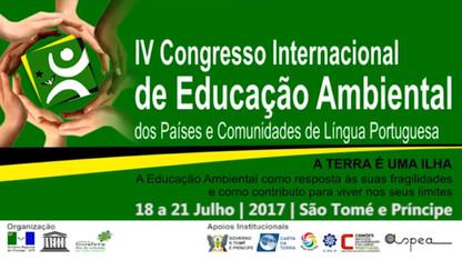 Chamada do 4º Congresso Internacional de Educação Ambiental dos Países e Comunidades de Língua Portu