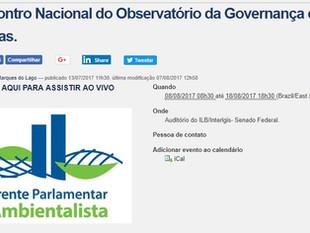 Encontro Nacional do Observatório da Governança das Águas