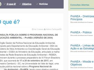 Programa Nacional de Educação Ambiental (ProNEA) está em consulta pública