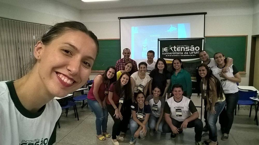 Acadêmicos durante o 9˚ ENEX /UFMS. Foto: Carla Karine Martins