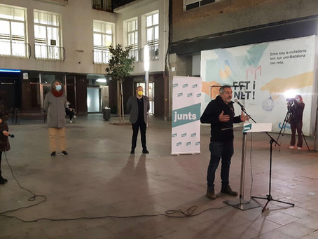 Els candidats de JUNTS de la comarca del Barcelonès al 14-F van ser presentats ahir a Badalona