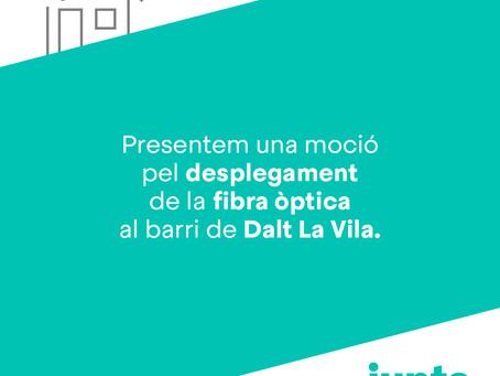 David Torrents presenta una moció a favor del desplegament de la fibra òptica a Dalt La Vila