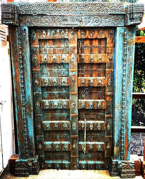 Réf# P2 - Rare Porte Indienne Antique