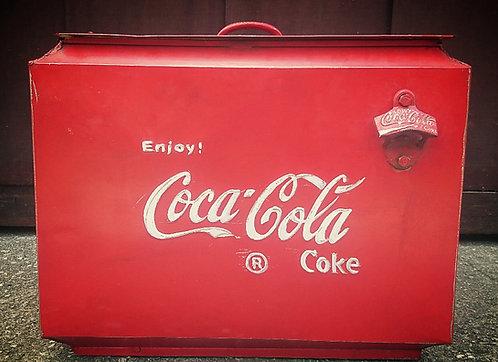 "Réf# 23 ""Glacière Coca-Cola Vintage"""