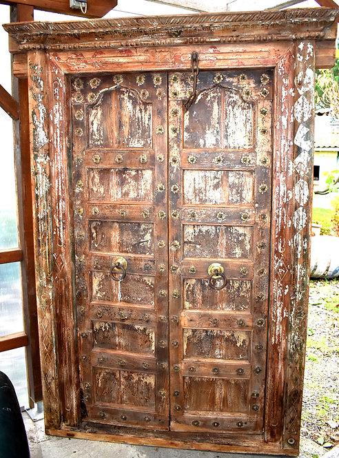 Réf# P5 - Rare Porte Indienne Antique