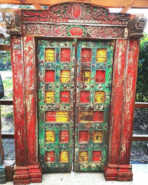 """Réf# P3 """"Rare Porte Indienne Antique"""""""