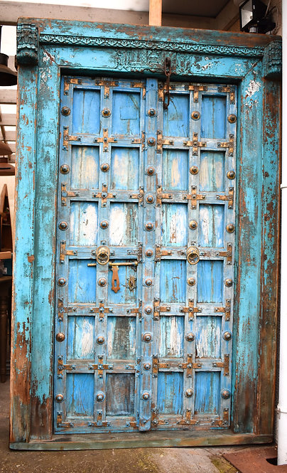 Réf# P4 - Rare Porte Indienne Antique