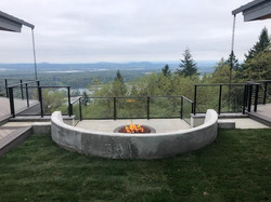 Outdoor fireplace parade of homes