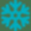 ícone de floco de neve representando crioterapia