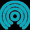 ícone de ondas do espalhamento de ondas, representando tratamento com ondas de choque