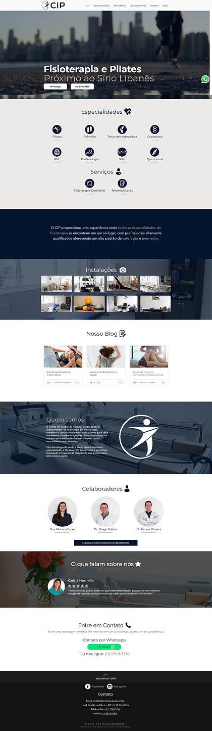 Nova home do site do centro de integração postural (CIP)