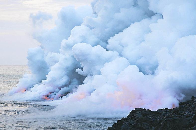 Fumaça no oceano