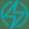 ícone de raio representando eletroterapia