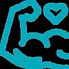 ícone de um braço musculoso com um coração acima, representando prevenção