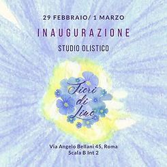 Inaugurazione studio olistico integrato Fiori di Lino