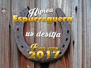 Hípica Esparreguera os desea un Felíz Año nuevo.