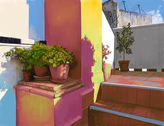 Terrace in Seville 1