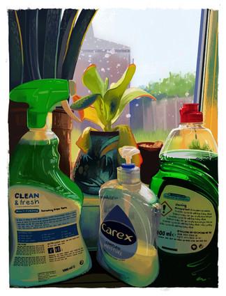 Kitchen Sink - Digital Painting