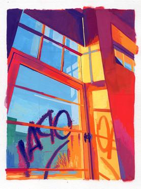 Spring Studio 2 - Gouache Painting