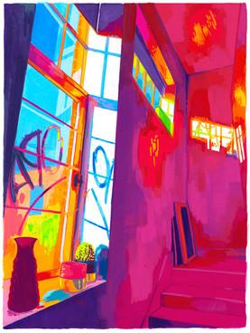 Spring Studio 3 - Gouache Painting