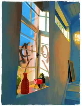 Spring Studio - Digital Painting