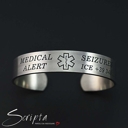 Bracciale Medical Alert Alluminio Largh 12mm