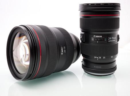 Canon RF 28-70 f/2L USM im Vergleich zu EF 24-70 f/2.8L II USM