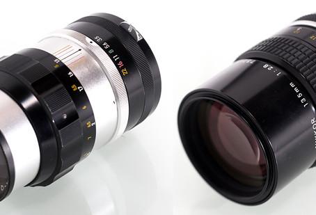 Nikkor-Q 13.5cm f/3.5 und 135mm f/2.8 non-Ai