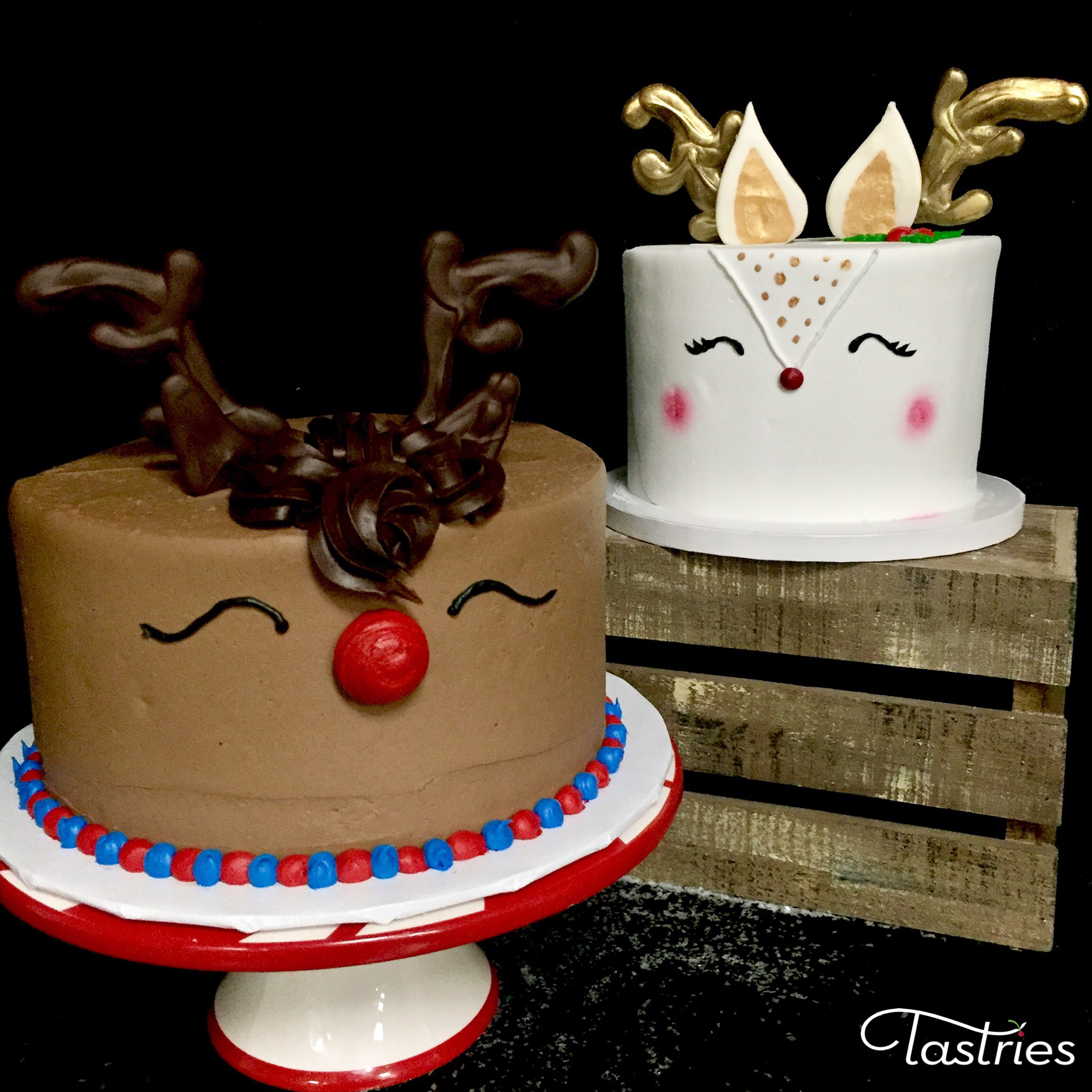 Rudolph the Red Nose Reindeer Cakes