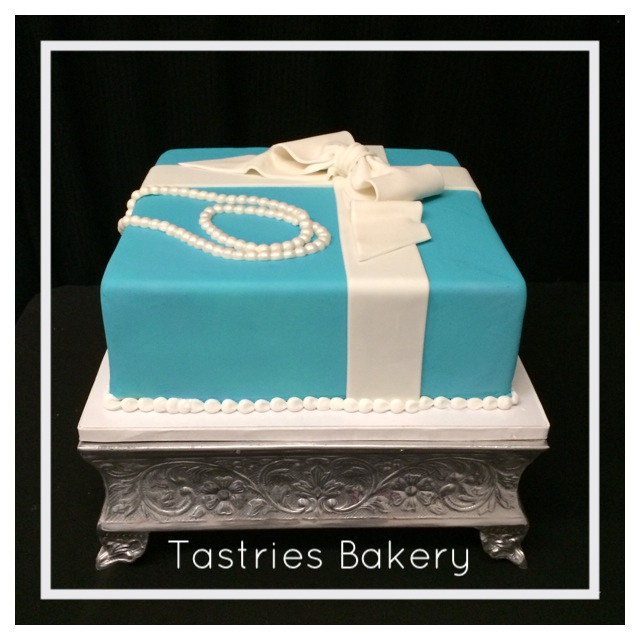 Silver Square Cake Stand Rental