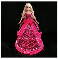 3d Pink Barbie Birthday Cake
