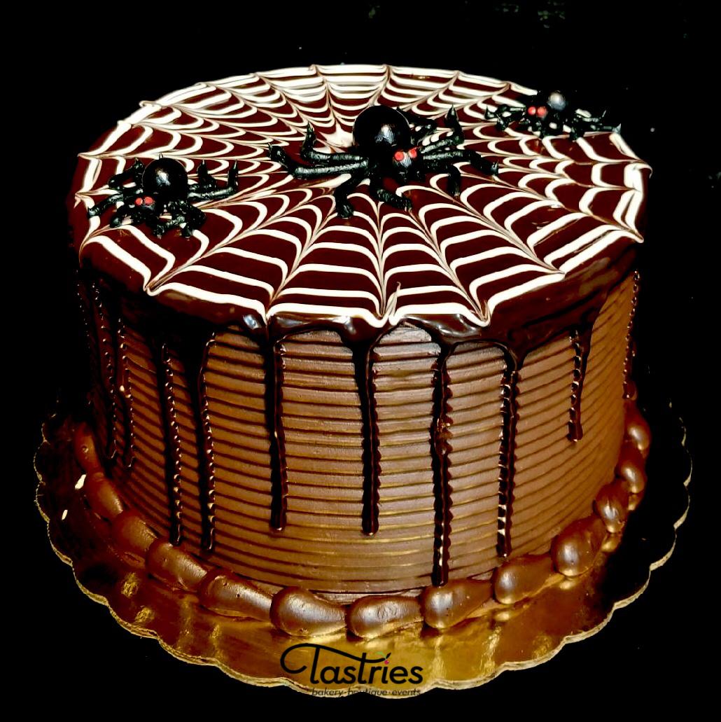Spiderweb Halloween Dessert Cake