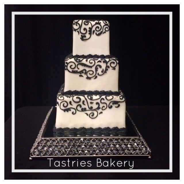 Square Crystal Cake Stand Rental