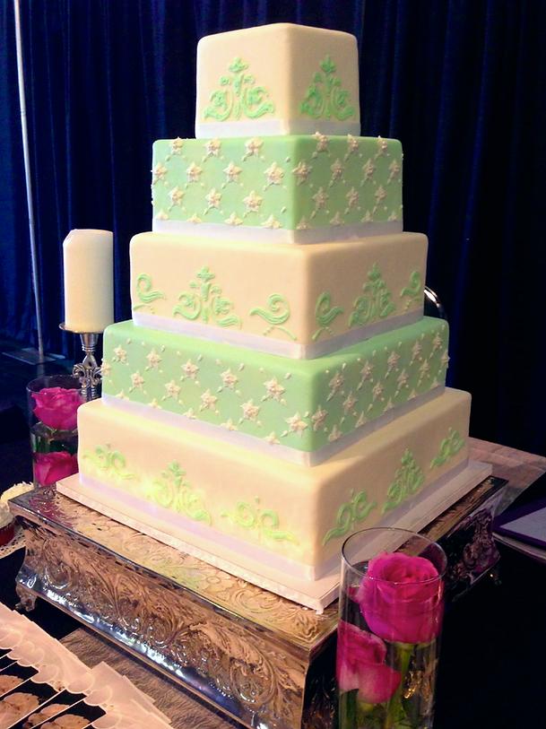 Mint Green Wedding Cake Tastries
