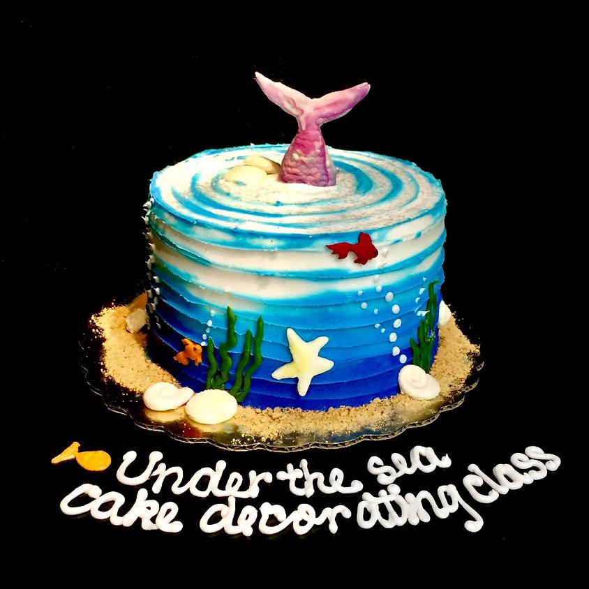 Clase de decoración de pasteles - Debajo del mar 5:00 p.m. clase en español