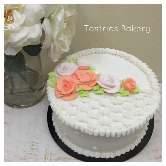 Easter Basket Floral Dessert Cake