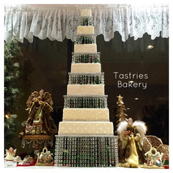 Square Bling Crystal Tower Cake Stan