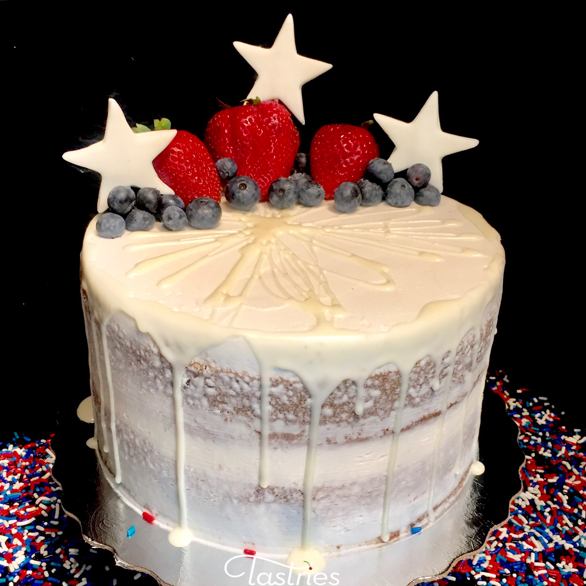 Patriotic Dessert Cake, 4th of July