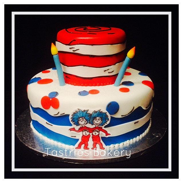 Dr Seuss Cookie Cake