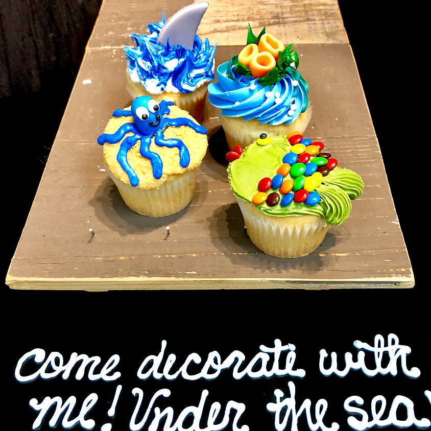 Cupcake Decorating Class - Under the Sea 2:30pm