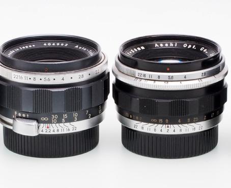 Asahi Pentax Preset Takumar  58mm f/2, f/2.2 und f/2.4, Auto-Takumar 55mm f/1.8, f/2 und f/2.2
