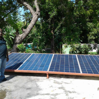 Solar panels for powering new telemedicine program in Petit Goave, Haiti.
