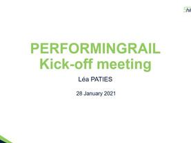 PERFORMINGRAIL Kick-Off Meeting