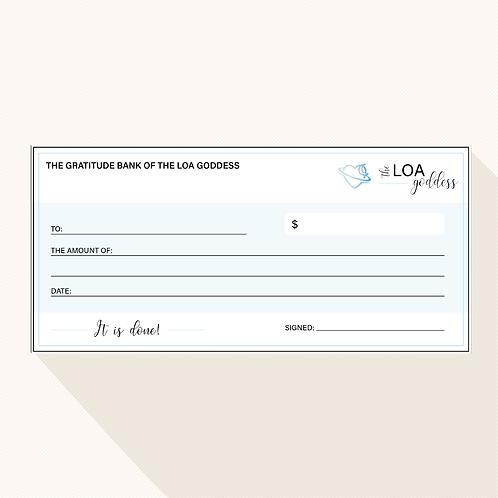 LOA Goddess Magic Cheque