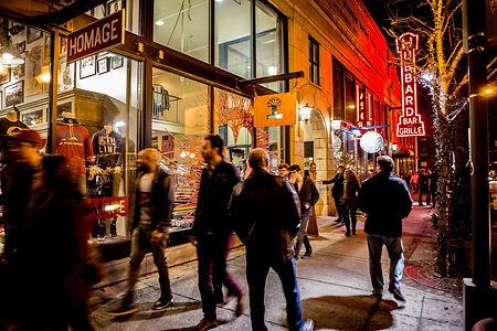 Columbus Ohio Short North Arts District Street Retail Experience