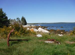 Anchor landmark on the coast