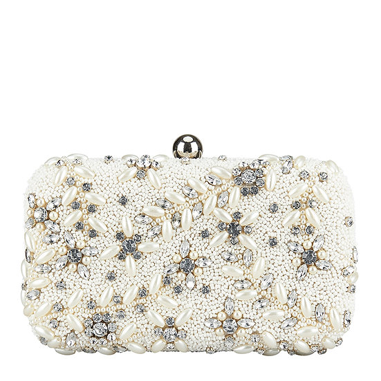 Diamante Vine Box Clutch